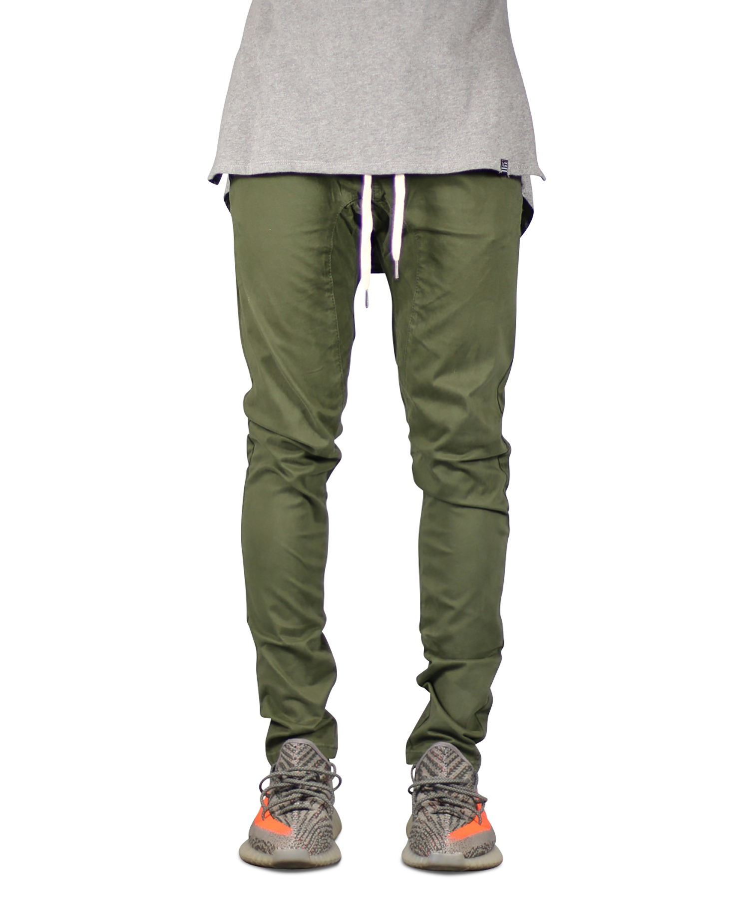 Olive Drop Crotch Pant