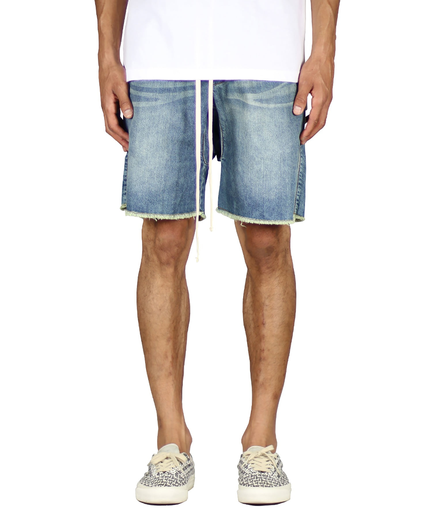 Indigo Drop Denim Short