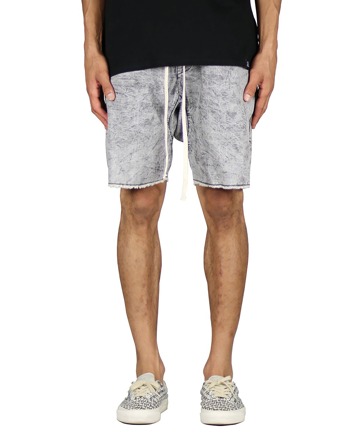 Stone Gray Drop Denim Short